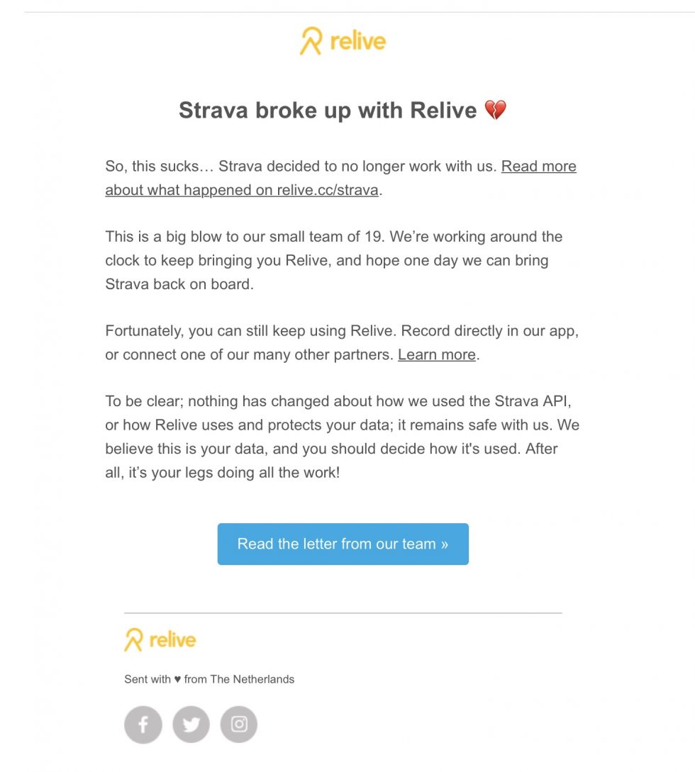 Email Relive sporttechtips.com
