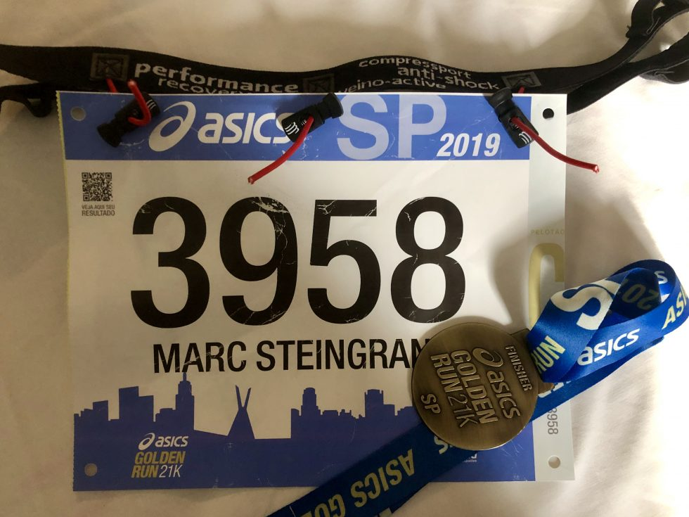Asics golden run SP sporttechtips medalha