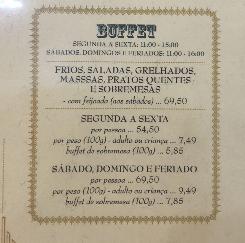 Preco Buffet Gio Cambui